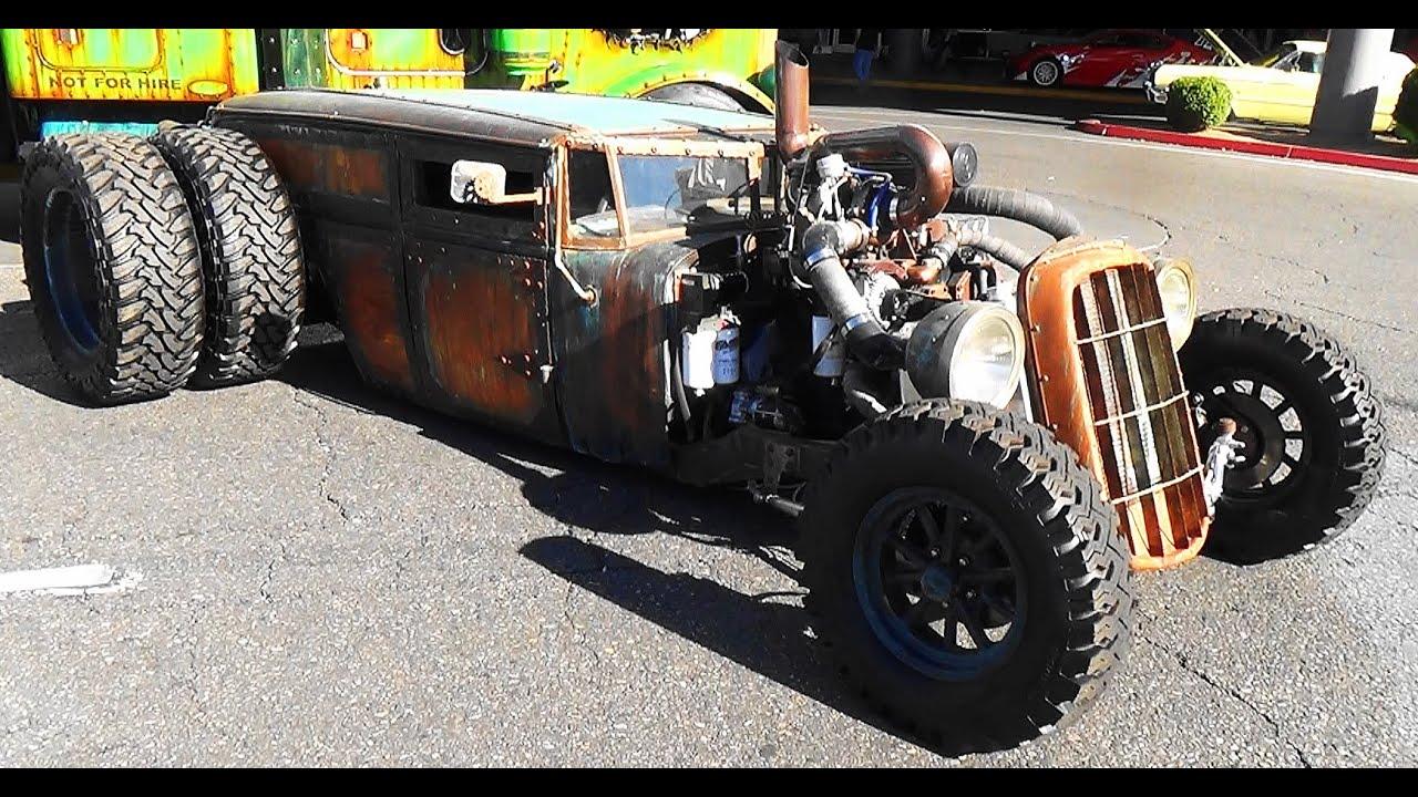 4k Wallpaper Muscle Car Welderup Quot Train Car Quot Dually Rat Rod Sema 2015 Youtube