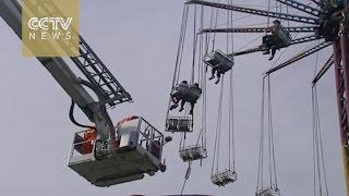 بالفيديو.. 5 أشخاص يواجهون الموت في «لعبة ملاهي» على ارتفاع 38 مترا