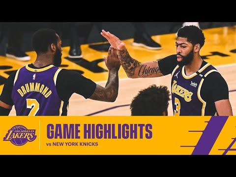 HIGHLIGHTS | Los Angeles Lakers vs New York Knicks