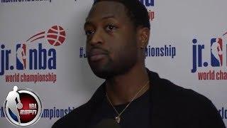 [FULL] Dwyane Wade on potential return to Miami Heat, Jr. NBA World Championship | NBA on ESPN