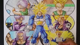 Drawing the Evolution of Trunks from Dragon Ball Z