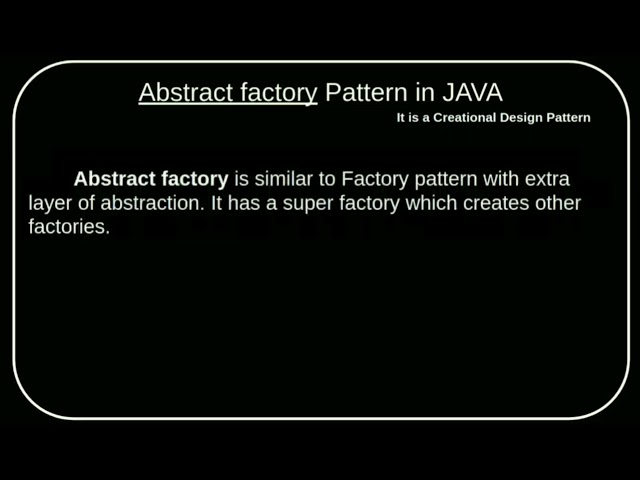 Abstract Factory design pattern | Creational design pattern