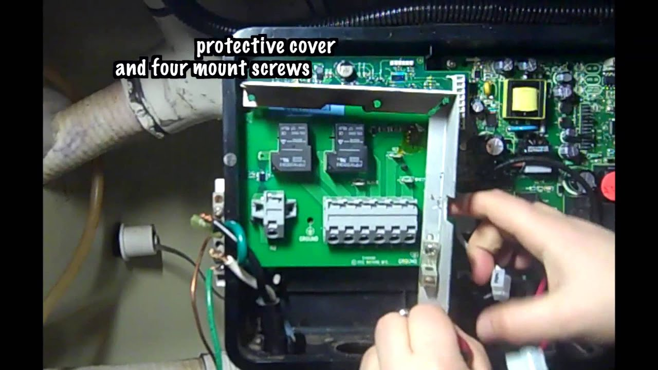 hot spring heater relay board new style installation [ 1280 x 720 Pixel ]