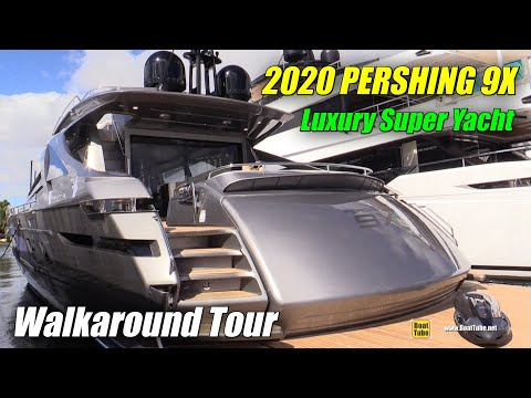 2019 Pershing 9X Luxury Yacht - Deck And Interior Walkaround - 2018 Fort Lauderdale Boat Show