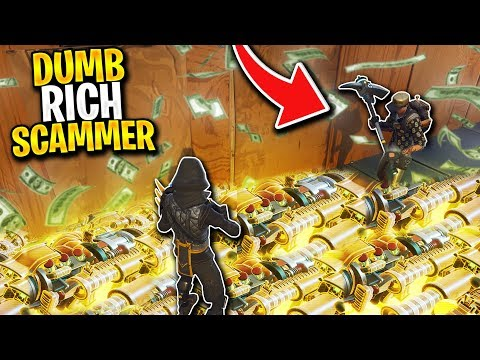 Dumb RICHEST Scammer Lost WHOLE INVENTORY! (Scammer Get Scammed) Fortnite Save The World