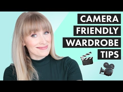 WHAT TO WEAR ON CAMERA | 5 TIPS TO LOOK GOOD ON TV + VIDEO 🎬