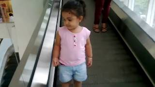 litilee girl Using ledder llift