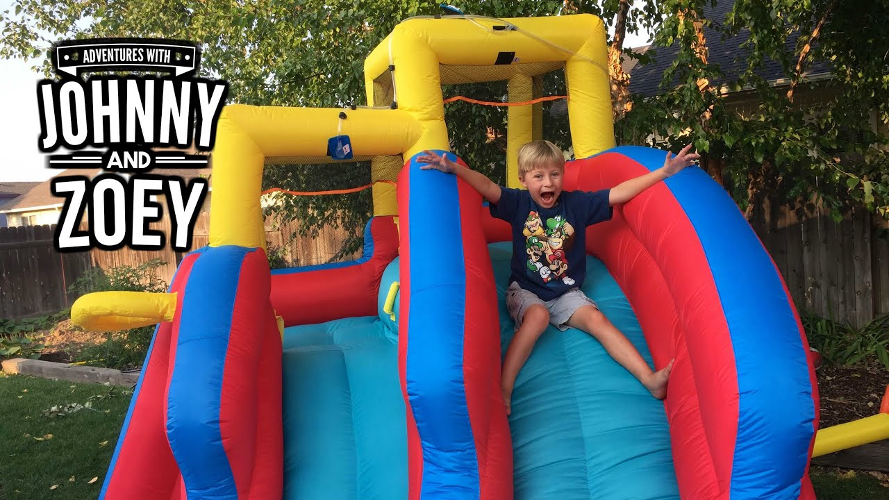 double water slide bounce house wet or dry inflatable slide by