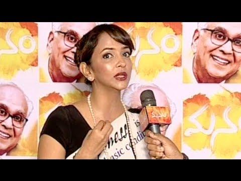 Lakshmi Manchu Talking @ Manam Premiere Show - ANR, Nagarjuna, Naga Chaitanya, Samantha