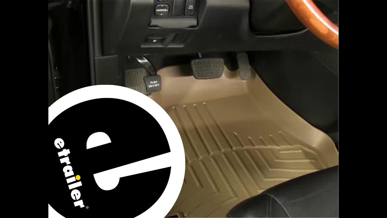 Weathertech floor mats lexus rx 330 - Review Of The Weathertech Front Floor Liners On A 2008 Lexus Rx 350 Etrailer Com