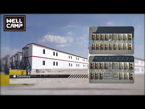 Fast Install Prefab Labor Camp Container Camp for Worker Accommodation/Dormitory