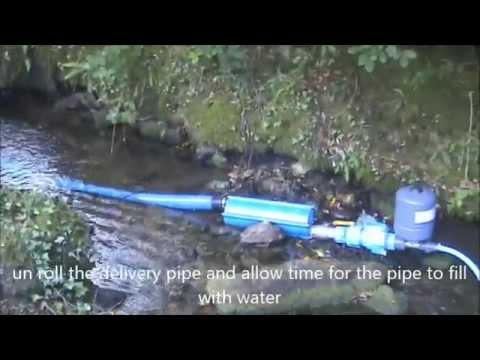 The Papa zero-energy ram pump rapid deployment system. Free water