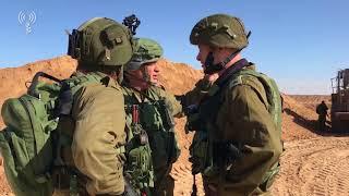 המנהרה שחדרה לשטח ישראל מכיוןן חאן יונס 10.12.17