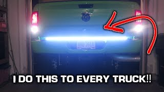 LED Tailgate Light Bar INSTALL!! *Super BRIGHT*
