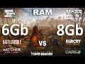 watch he video of 6Gb vs 8Gb RAM Test in 7 Games