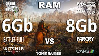 6Gb vs 8Gb RAM Test in 7 Games