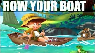 Row Row Row Your Boat - Kids Song With Lyrics - Children Music Video - Nursery Rhymes