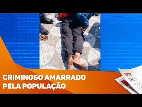 Criminoso é amarrado pela população em Sorocaba - TV SOROCABA/SBT