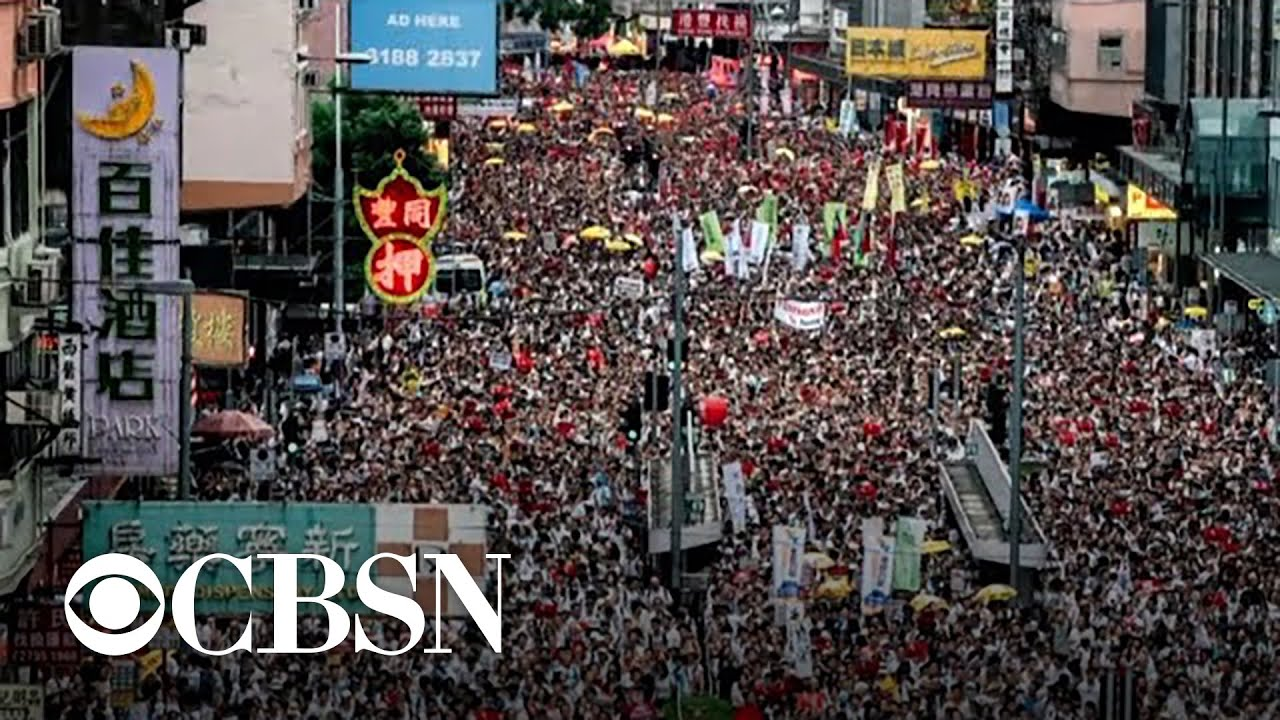 Hundreds of thousands in Hong Kong protest bill that would allow extraditions to China