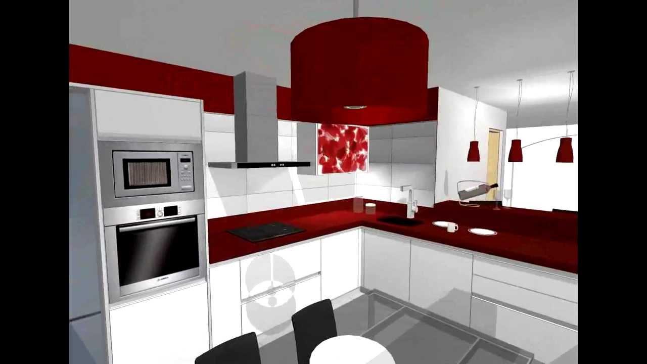 Proyecto de cocina moderna en blanco youtube - Cocina moderna pequena ...
