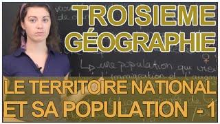 Le territoire national et sa population - Partie 1 - Géographie - 3e - Les Bons Profs