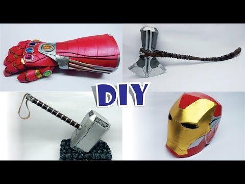 DIY 4 ARMAS DE LOS VENGADORES DE CARTÓN FOAMY - 4 Avengers Weapons You Can Make At Home