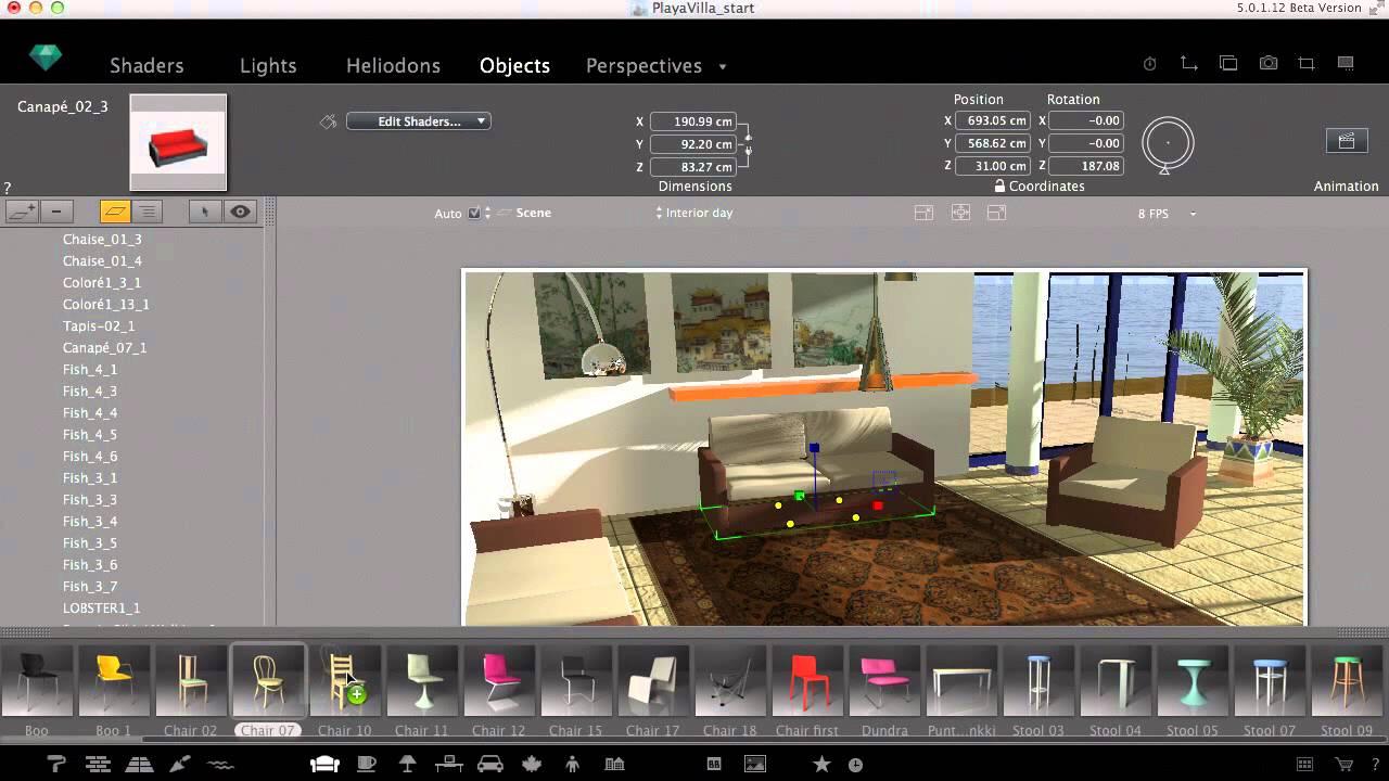 objects in artlantis 5 youtube. Black Bedroom Furniture Sets. Home Design Ideas