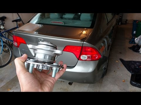2006-2011 Honda Civic Rear Wheel Bearing/Hub Replacement (Drum Brakes) DIY
