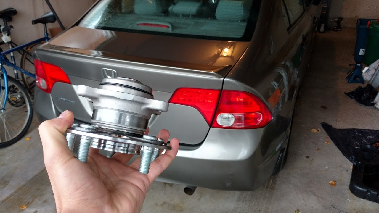 hight resolution of 2006 2011 honda civic rear wheel bearing hub replacement drum brakes diy