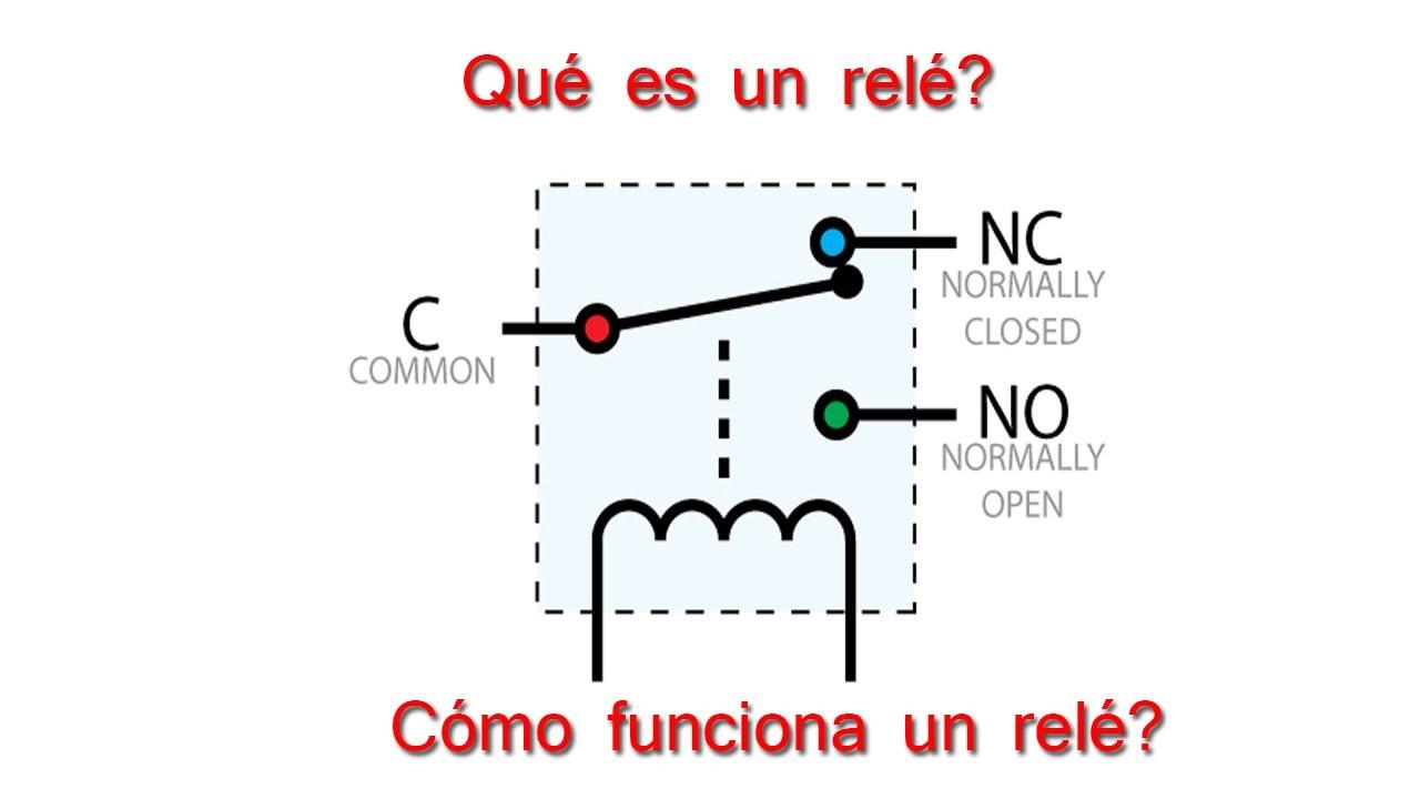 Circuito Not : Relé de función en un circuito eléctrico youtube