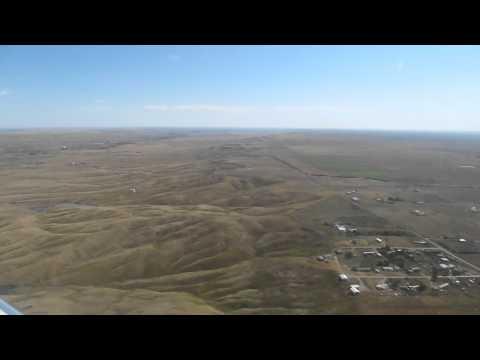 Flying Into Rapid City, South Dakota