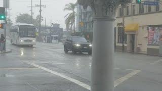 Rain at venice beach