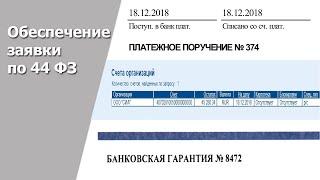Обеспечение заявки 44 ФЗ конец 2018 - 2019 год
