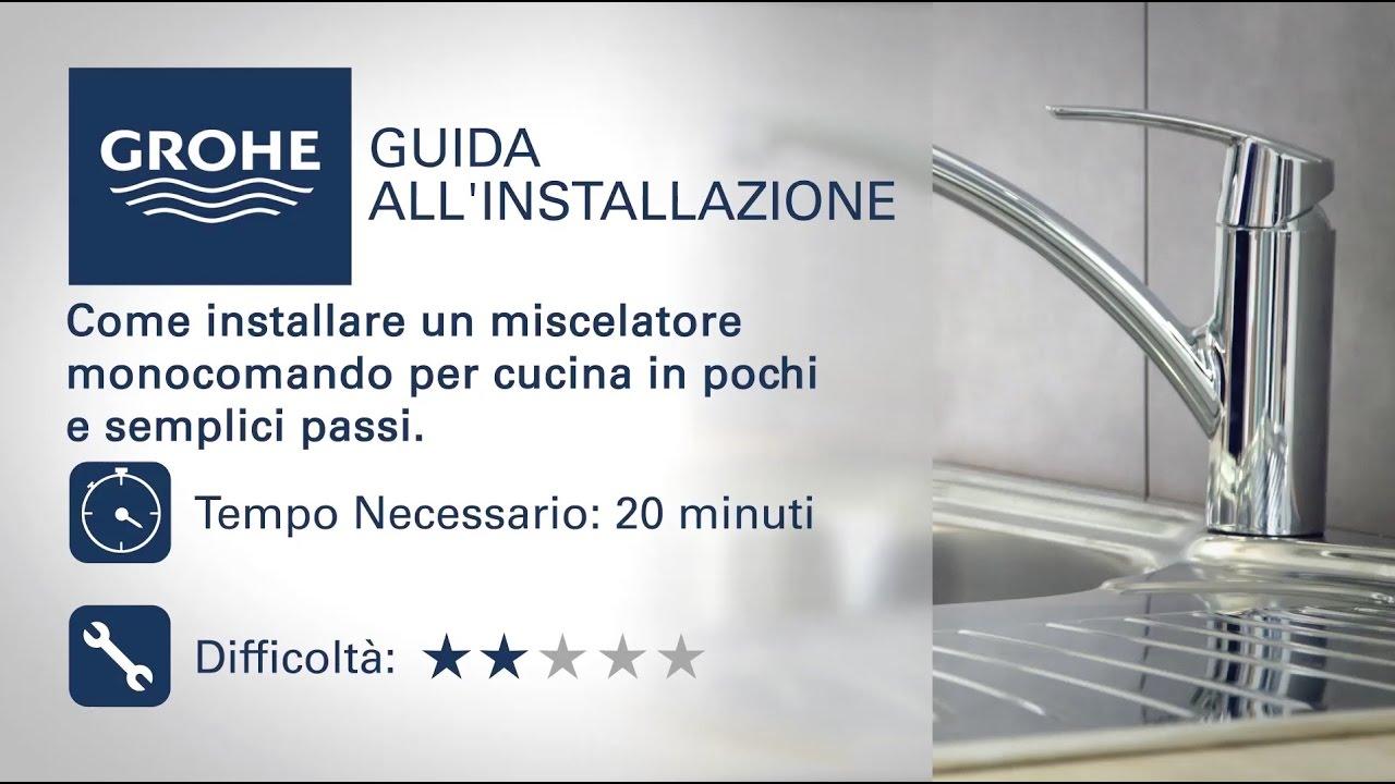 Rubinetto cucina con monocomando Grohe | come si installa - YouTube