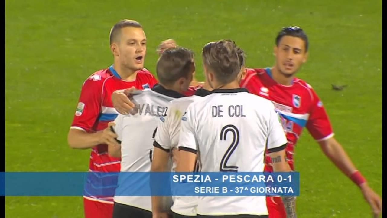 Spezia - Pescara 0-1 - YouTube