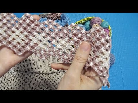 Вышивка по филейной сетке. Летняя юбка.