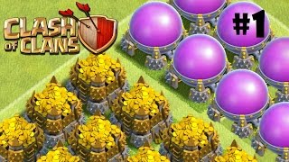 Clash Of Clans  - Blazing World, Million+ Raids Epiode 1