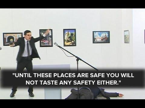 Russian Ambassador Killed by Gunman RAW VIDEO