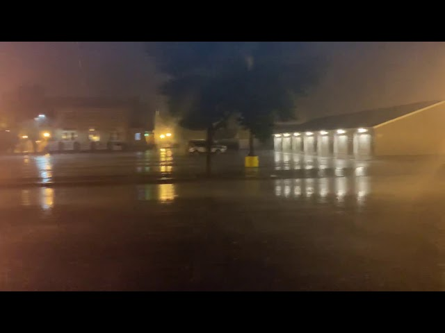Thunderstorm in downtown Crookston