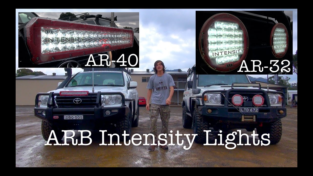 Arb intensity light bar and spotties ar 40 and ar 32 youtube arb intensity light bar and spotties ar 40 and ar 32 mozeypictures Images