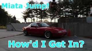 JUMPING MY CAR IN A SKATE PARK!