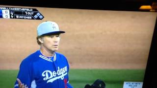 Will Ferrell pitches for the Dodgers