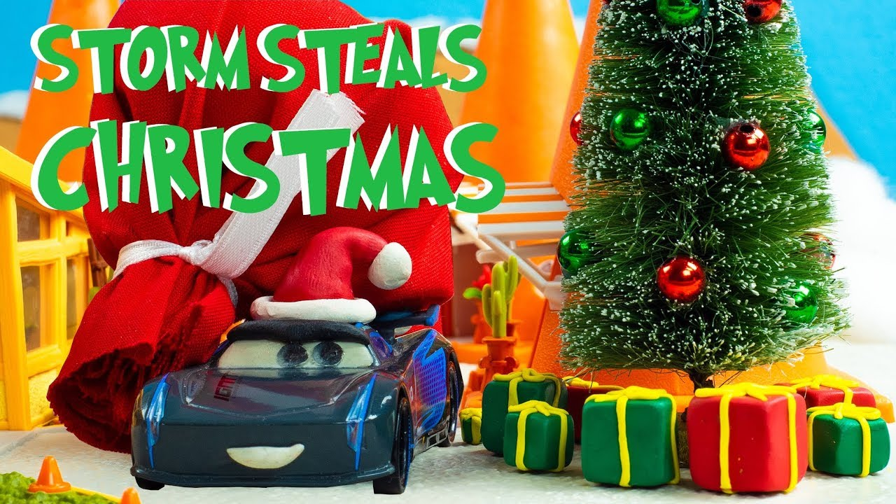Disney Cars Christmas Tree.Jackson Storm Steals Christmas Holliday Animation Special Disney Cars Mcqueen Cozy Cone Motel