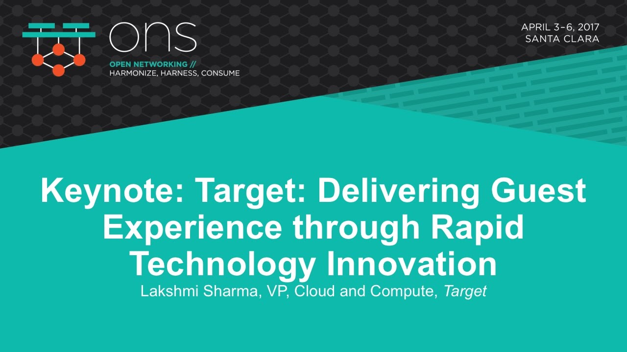 Keynote Target Delivering Guest Experience Through Rapid The Technology Innovation Lakshmi Sharma