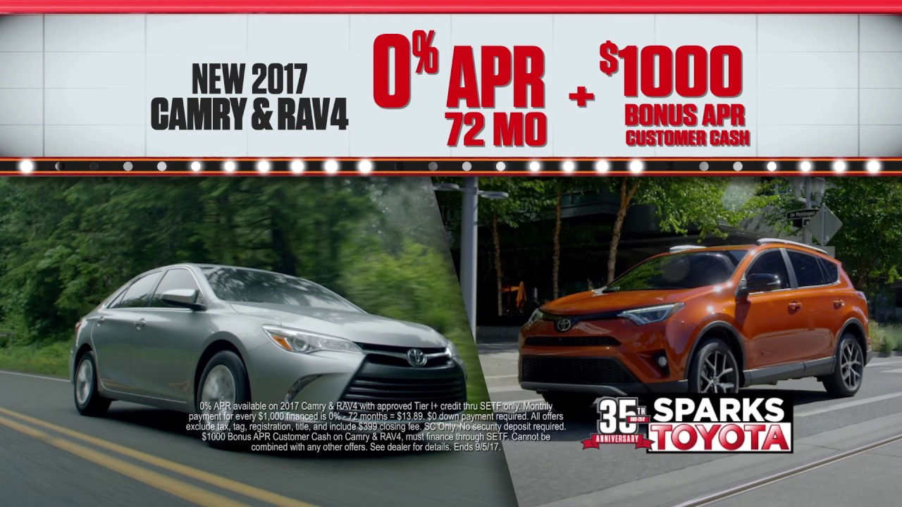 Sparks toyota national clearance event apr specials youtube