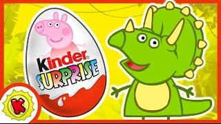 ДИНОЗАВРЫ. Киндер Сюрприз. Свинка Пеппа. Peppa Pig. Kinder Surprise. DINOSAURS.