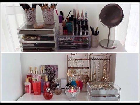 mon rangement maquillage bijoux youtube. Black Bedroom Furniture Sets. Home Design Ideas