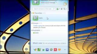 Using Windows Live Messenger to stay in touch