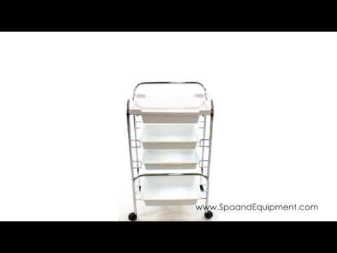 4 Level Plastic Spa Salon Trolley Cart