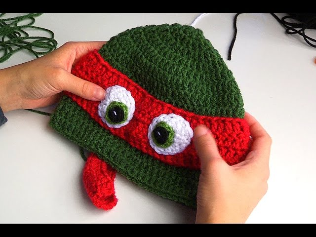 Crochet Tutorial Ninja Turtle Hat Yarnutopia By Nadia Fuad